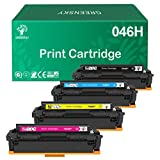 GREENSKY Compatible Toner Cartridge Replacment for Canon 046 046H CRG 046 046H for Canon Color ImageCLASS MF735Cdw LBP654Cdw MF731Cdw MF733Cdw Laser Printer (4 Pack) Larger Image