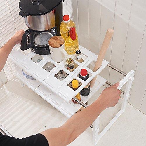 KSKSSIA Stainless steel rack, sink rack, kitchen stainless steel rack, shrink by KSKSSIA