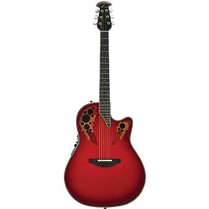 Ovation c2078ax RTD Custom Elite Rojo Lágrima + Case Guitarra Electroacústica (