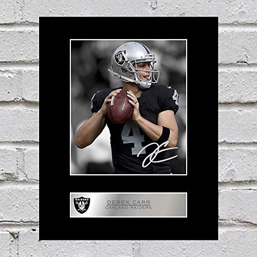 Derek Carr Signed Mounted Photo Display Oakland Raiders