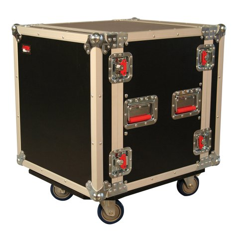 Gator 12U, Standard Audio Road Rack Case with Casters (G-TOUR 12U - Lighting 01 Recessed Accessory