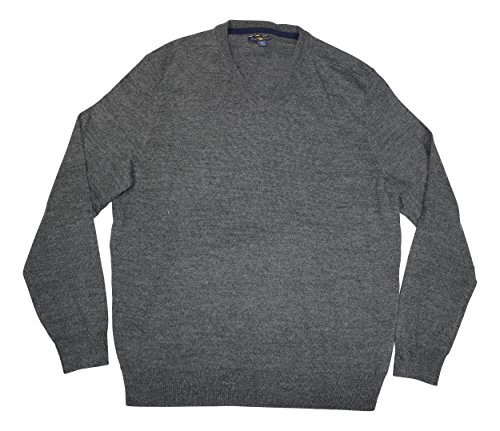 Club Room Mens Wool Blend V-Neck Pullover Sweater Gray M ()