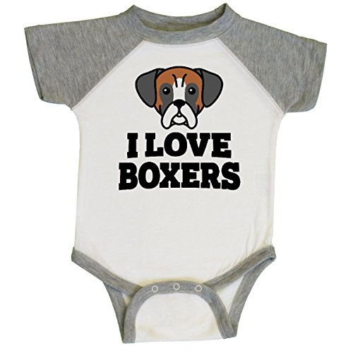 inktastic - I Love Boxers Infant Creeper 6 Months White for sale  Delivered anywhere in USA