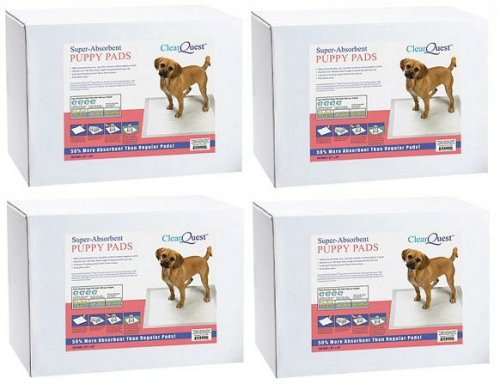 ClearQuest 400 22x23 4 Cup Puppy Training Pads by ClearQuest
