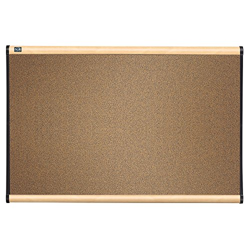 Quartet B243MA Quartet Prestige Bulletin Board, Graphite-Blend Cork, 36 x 24, Maple ()
