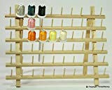 New ThreadNanny Wooden Thread Rack for Sewing - Quilting - Embroidery Spools and Mini Cones (2x60 Count Wide)