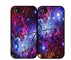 Apple iPhone 4 4s hard cover customized personalized BFF infinity best friend cute chevron hakuna matata Fox Fur Nebula Best Friends Set Of Two (2) galaxy