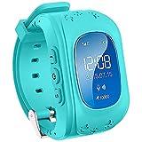 Uhr für Kinder,TURNMEON® intelligent uhr mit GPS WIFI Anti-lost Tracker Smart watch Handy mit SIM SOS Armband für Smartphone (Blau)