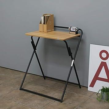 X10 Mesa de Escritorio portátil Plegable de bambú Plegable Mini ...