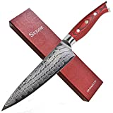 SEDGE Chef's Knife 8' - Japanese AUS-10 High Carbon Damascus Stainless Steel - Ergonomic G10 Handle with Exquisite Gift Box - SD-R Series