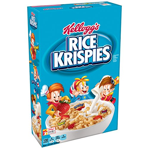 Kellogg S Rice Krispies Breakfast Cereal  Toasted Rice Cereal  Fat Free  18 Oz Box
