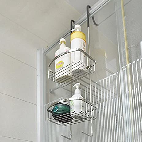 Wonderful CLG FLY Free Punch Toilet Shelf Bathroom Shower Wall Mounted Towel Holder  Stainless Steel