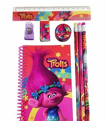 DreamWorks Trolls Poppy School Stationery Set- 1 Pack (STYLE MAY (Poppy Stationery)