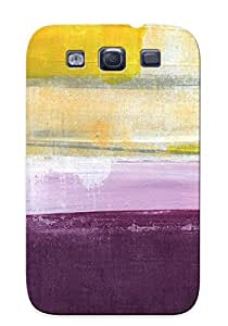 Apbzan-1558-fskeruu Hydrangea Two Abstract Painting Fashion Tpu Case Cover For Galaxy S3, Series