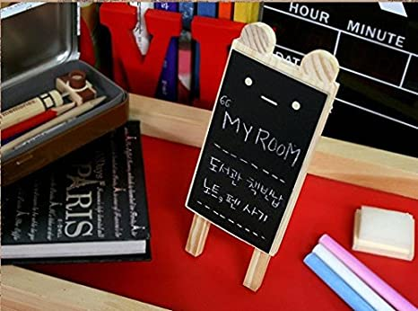 Amazon.com : Mini Rabbit Black Board Small Blackboard Wooden ...
