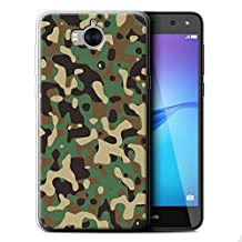 STUFF4 Gel TPU Phone Case / Cover for Huawei Y6 2017 / Green 3 Design / Camouflage Army Navy Collection