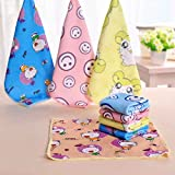Fighting 30*30cm Square Towels Microfiber Fabric Towel Hand Face Towels for Kids Adults Random color