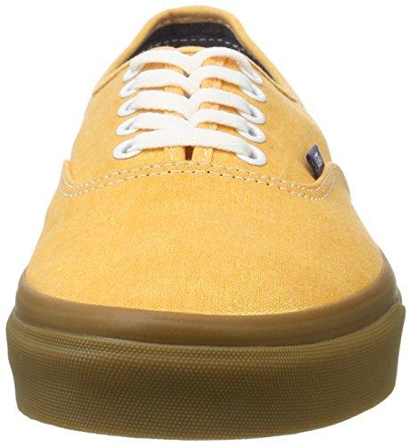 Authentic Washed Basses Canvas Sneakers Homme UA Jaune Vans pRqvYw5SW
