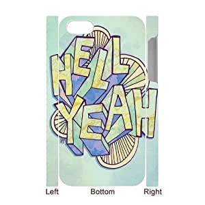 HELL YEAH Discount Personalized 3D Cell Phone Case for iPhone 4,4S, HELL YEAH iPhone 4,4S 3D Cover