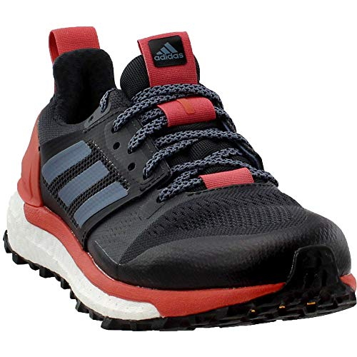 (adidas Women's Supernova Trail Running Shoes, Carbon \ Raw Steel \ Trace Scarlet,6 M US)
