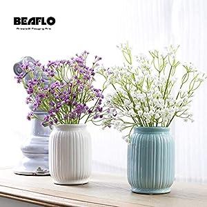 HATABO 1 Bouquet 4 Color Short Beautiful Gypsophila Artificial Fake Silk Flowers Baby Breath Plant Home Wedding Christmas Decoration (Random) 45