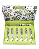 Portmeirion Botanic Garden Cheese Knife and 6 Spreader's