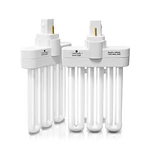 Miracle-GroAeroGarden B High Efficiency Grow Light Bulb, Premium Fluorescent Light, 2 lights per pack Part # 970904-0200,100340