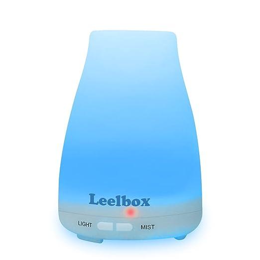 115 opinioni per Leelbox Diffusore di Aromi 7 Colori LED Umidificatore con Auto Spegnimento per