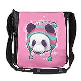 Men Women Classic Panda With Hat Messenger Bag Adjustable Crossbody Bag Shoulder Bag College Bag For Outdoor Workout Travel