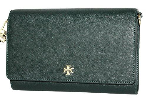 Tory Body Bag Shoulder Wallet EMERSON Bag Jitney Burch Cross Chain Women's Green 8Owr8q