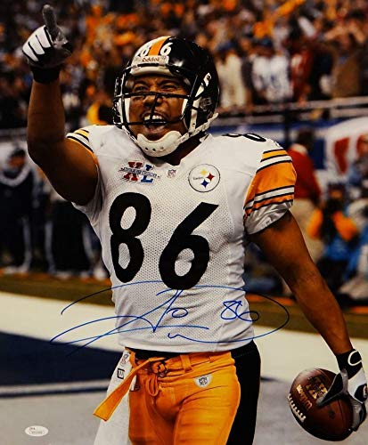 Hines Ward Autographed Signed Steelers 16x20 Cheering Photo - JSA Authentication