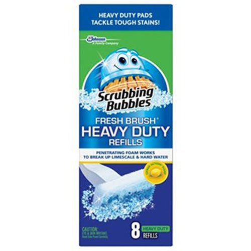 Scrubbing Bubbles Fresh Brush Heavy Duty 8 count (2 Pack) (Flushable Toilet Cleaner compare prices)