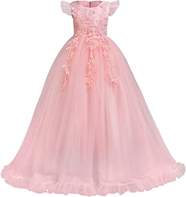 Princess Birthday Party Wedding Bridesmaid Communion Prom Gown Flower Girl Dress