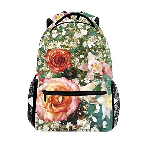 Roses Song Beauty Backpack For School Shoulder Daypack Handbag ()