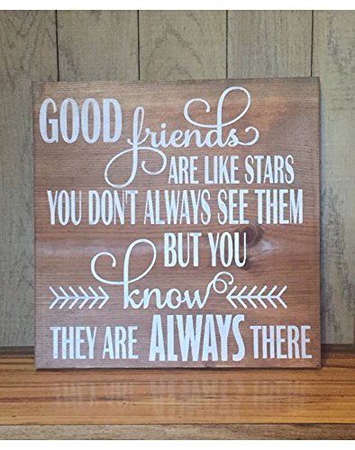 Good Friends Are Like Stars Gift For Her Best Friend Custom Wood