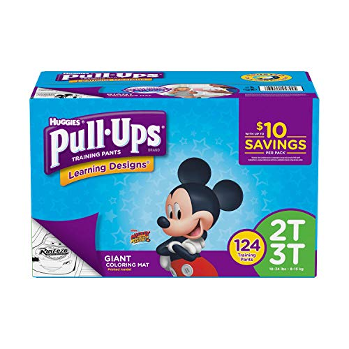 Product of Pull-Ups Learning Designs Training Pants for Boys, Size 2T-3T, 124 ct. (diapers - Wholesale Price - Training Pants [Bulk Savings] by Pull-Ups (Image #1)