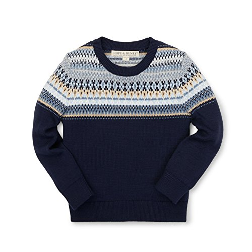avy Fair Isle Sweater Made with Organic Cotton Size 3 (Hope Kids Sweatshirt)