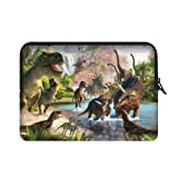 WECE 15.6 Inch Funny Dinosaur T-Rex Theme Portable Laptop Carrying Case Sleeve Bag for MacBook, MacBook Air/Pro 15.6' (Two Sides)