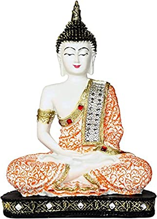 Heeran Art Polyresin Sitting Buddha 24 Cm Orb Idols & Figurines at amazon