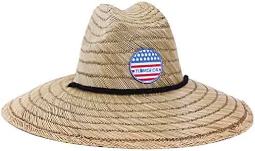 bad292cf367 Flomotion Mens America Straw Hat One Size Natural Beige
