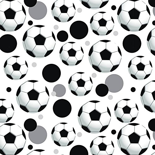 Premium Gift Wrap Wrapping Paper Roll Pattern - Soccer Ball Football - Ball - Ball Wrap Gift