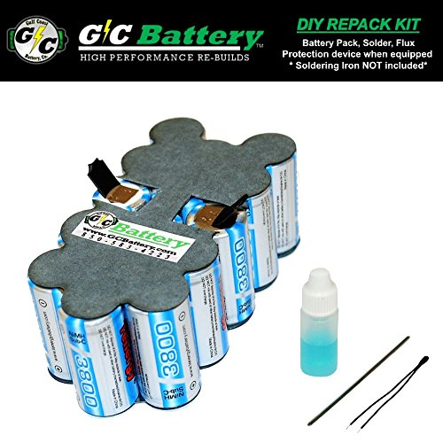 Snap-on 18V Battery CTB4185 | CTB4187 DIY REPACK KIT (contact not included) | UPGRADED Tenergy 3.8Ah NiMH