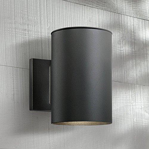 Matthis Modern Outdoor Wall Light Fixture LED Black 7 1/2