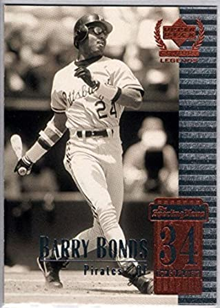 55b500ce731 Amazon.com  Baseball MLB 1999 Upper Deck Century Legends  34 Barry ...