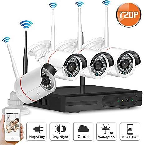 SW swinway 8 canales 720P HD Cámara de seguridad inalámbrica NVR sistema con 8 720P HD