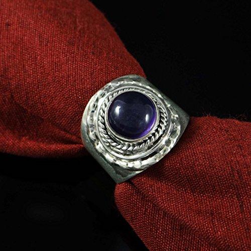 Banithani 925 Anneau De Pierres Précieuses Améthyste Argent Pur Bijoux De Mode Indienne