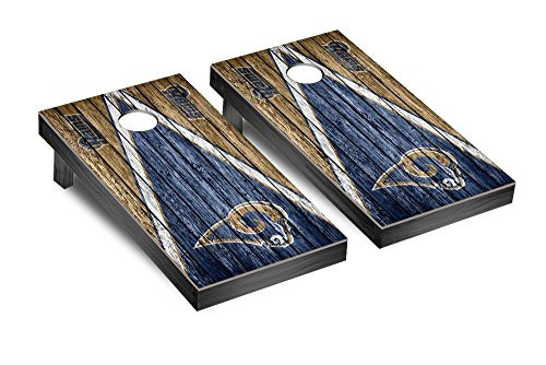 NFL Los Angeles Rams Triangle Weathered Version Football Corn hole Game Set, One Size by Victory Tailgate