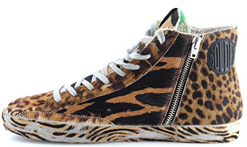 Golden Goose Scarpe Sneakers Uomo G30MS591BWD Francy Brown Wild Ltd ed Italy New