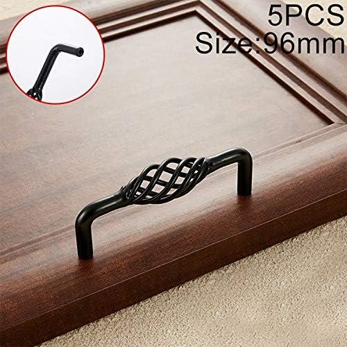 Moda semplice retr/ò ettari 5 PCS 6098-96 Classic Birdcage Forma di ferro del Governo del cassetto del guardaroba della maniglia di portello Armadio maniglie maniglia della porta Foro di spaziatura
