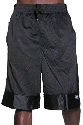 Hat and Beyond Mens Heavyweight Mesh Shorts Athletic Fitness Gym Sports Workout S-5XL (3XL, 1ks14_Black)